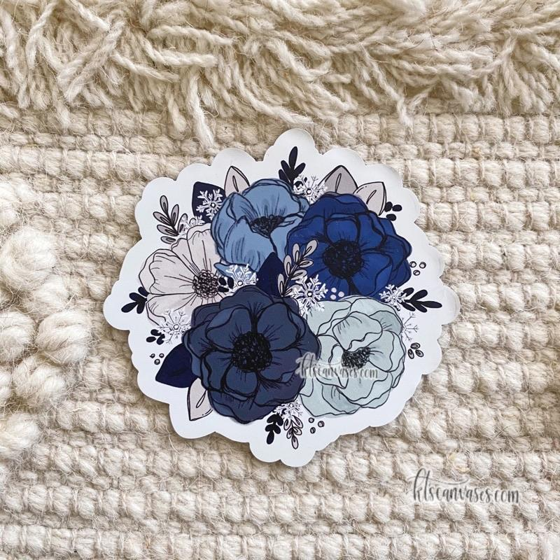 Frosty Florals MAGNET