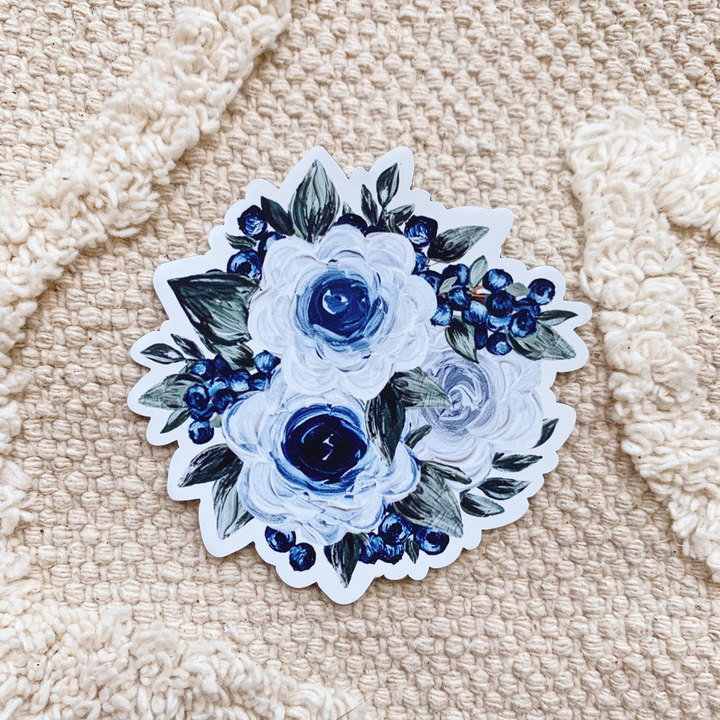 Blueberry Florals MAGNET