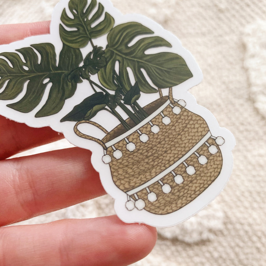 Monstera Plant Clear Sticker