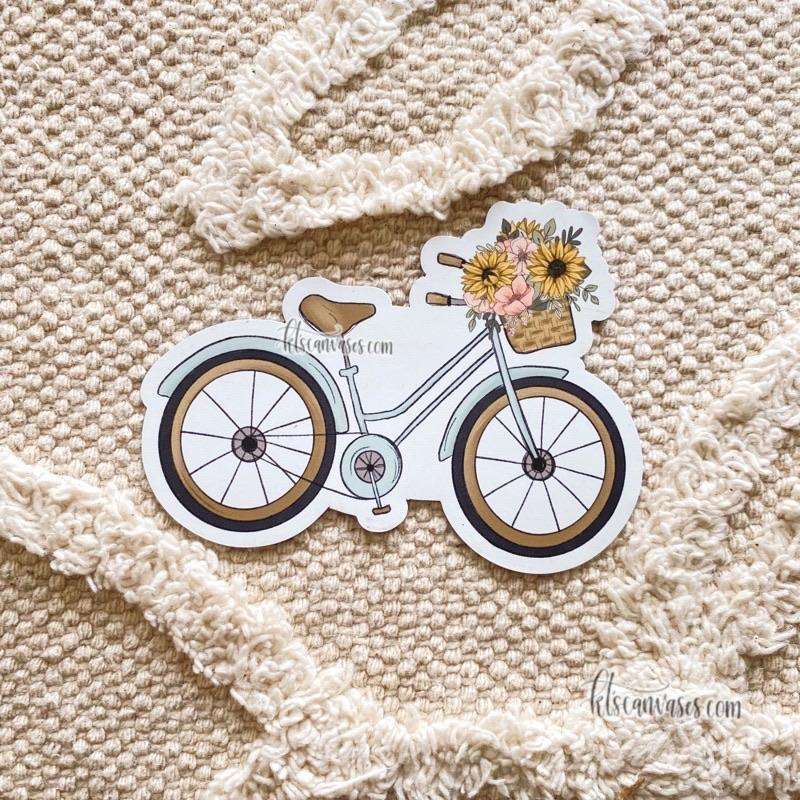 Floral Bicycle Magnet