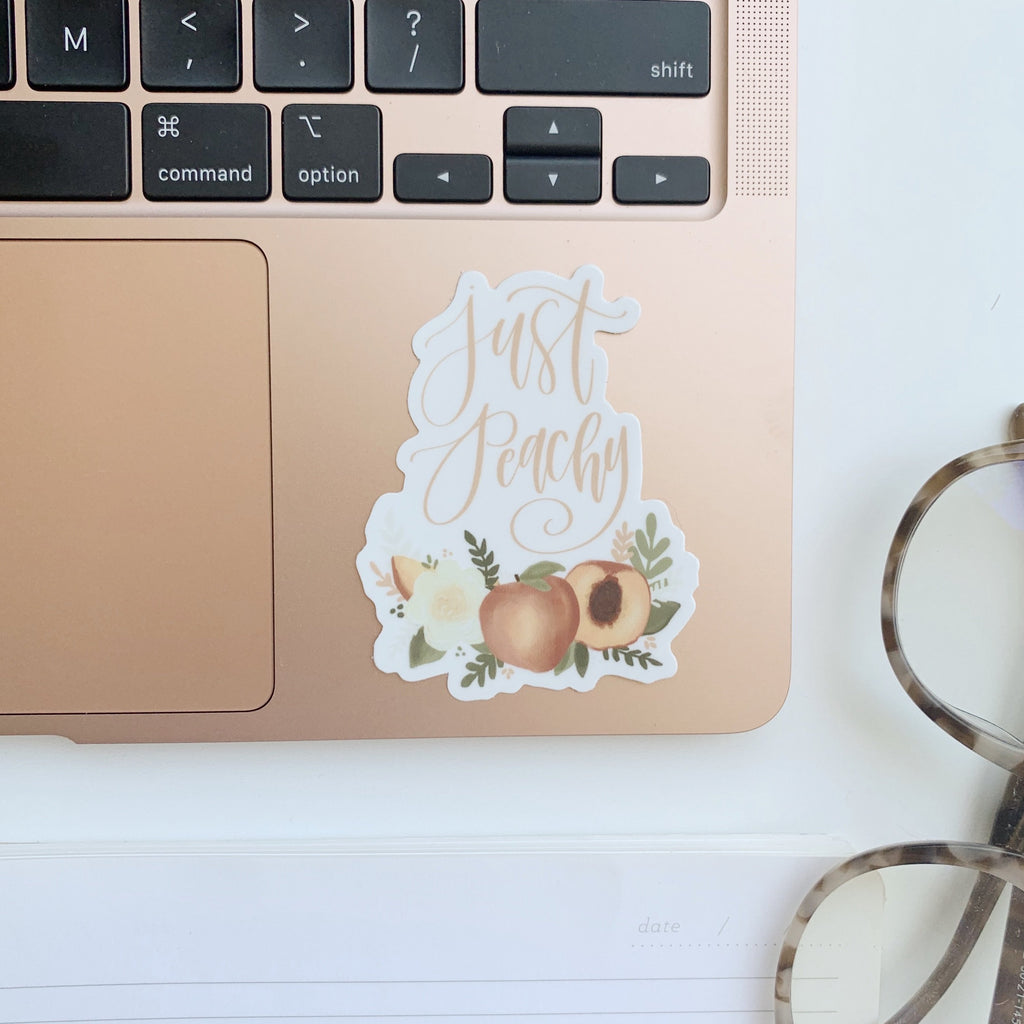 Just Peachy Florals Sticker