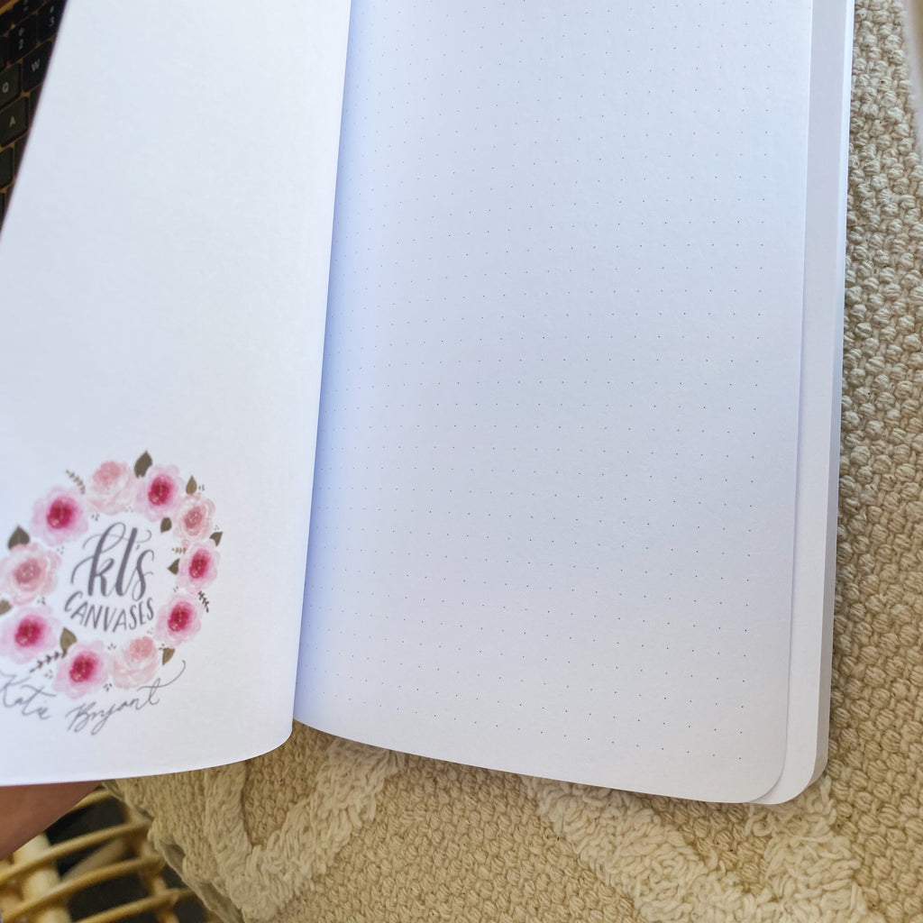 Messy Florals DOT GRID Notebook