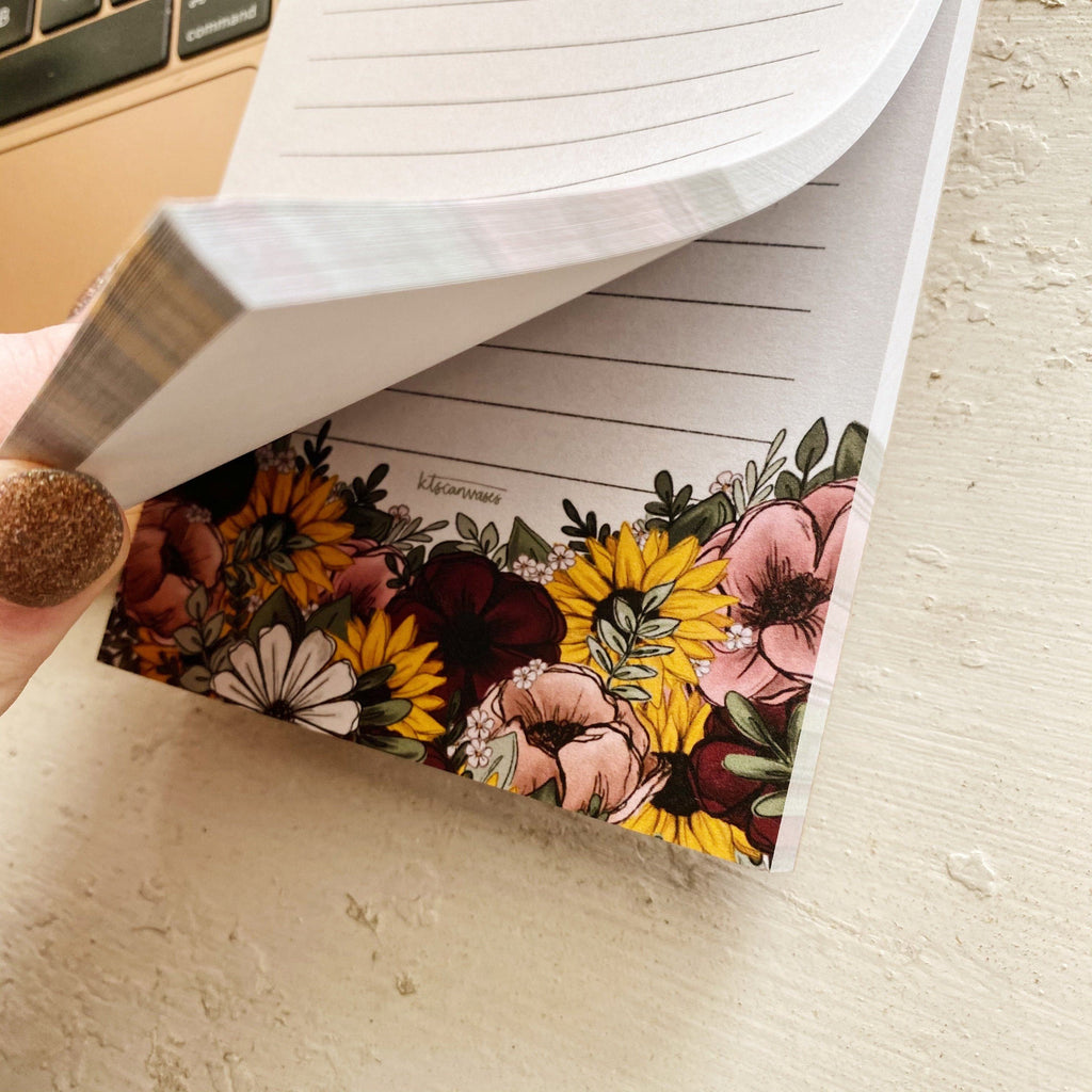Mixed Florals Notepad 100 sheets (4.25 x 5.5 in.)