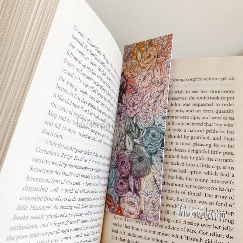 Pastel Rainbow Double Sided Bookmark