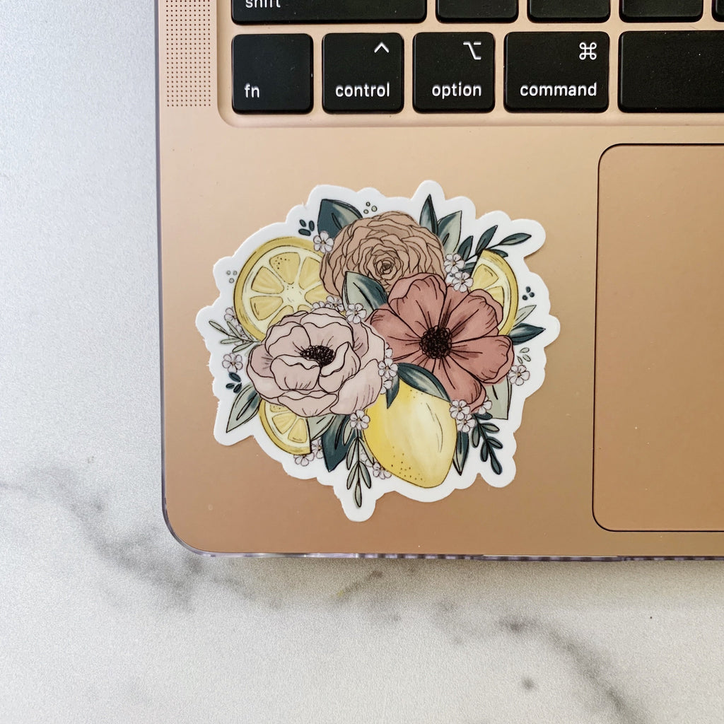 Lemon Florals Sticker