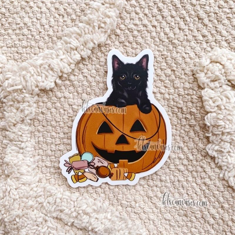 Halloween Cat Sticker