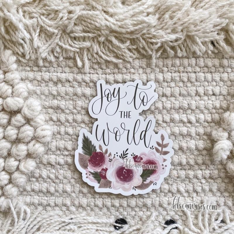 Joy to the World Floral MAGNET