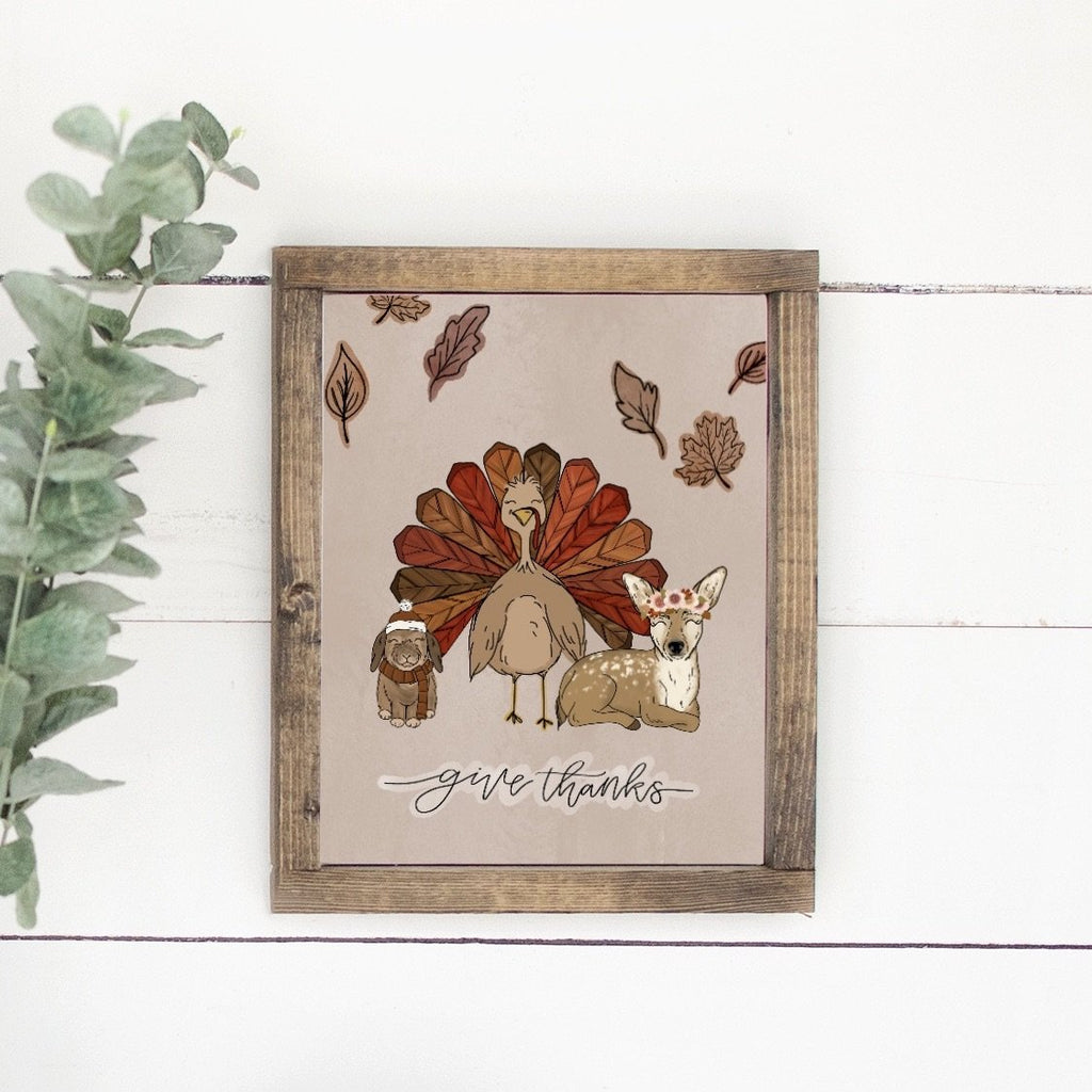Give Thanks Turkey Art Print