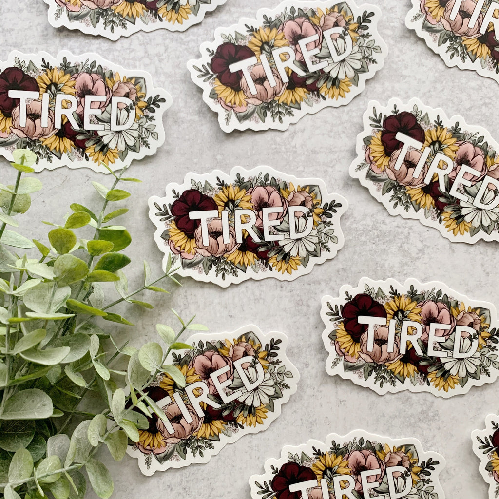 Floral Tired Sticker