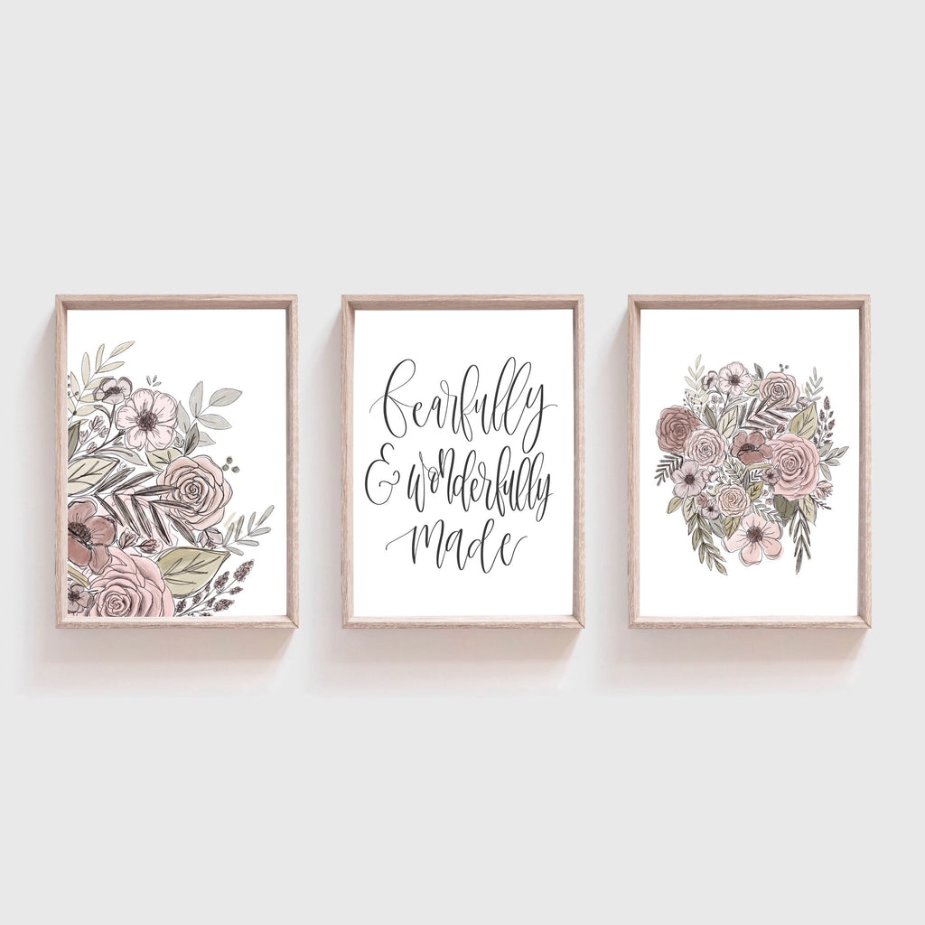 Fearfully & Wonderfully Made Art Print Set of 3