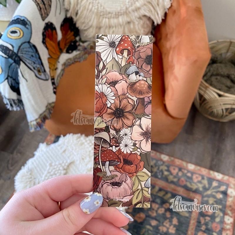 Floral Set of 4 Double Sided Bookmarks