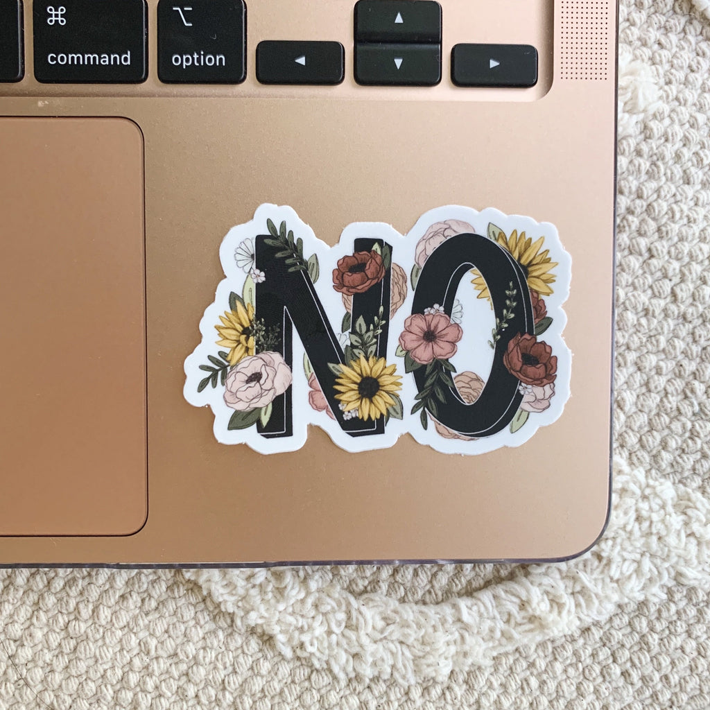 Floral NO Sticker