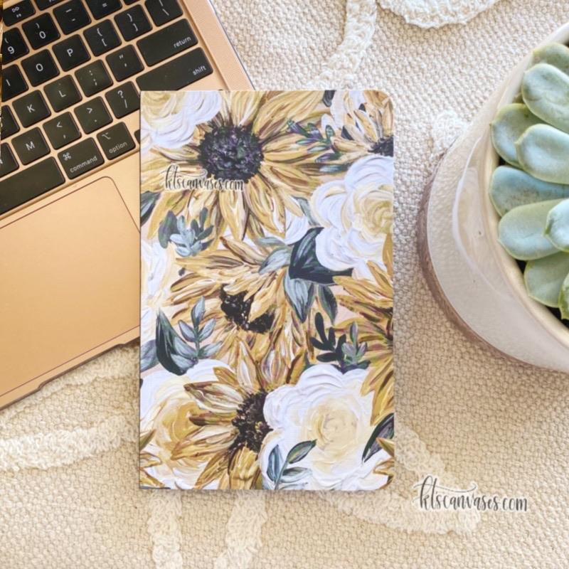 Sunflower DOT GRID Notebook