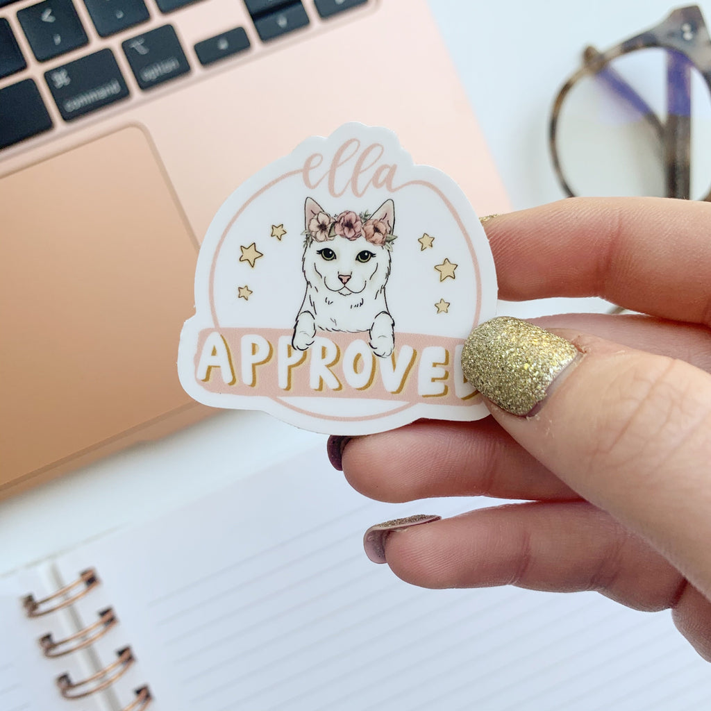 Mini Ella Approved Sticker