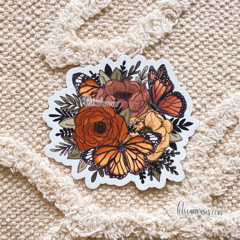 Butterfly Florals Magnet