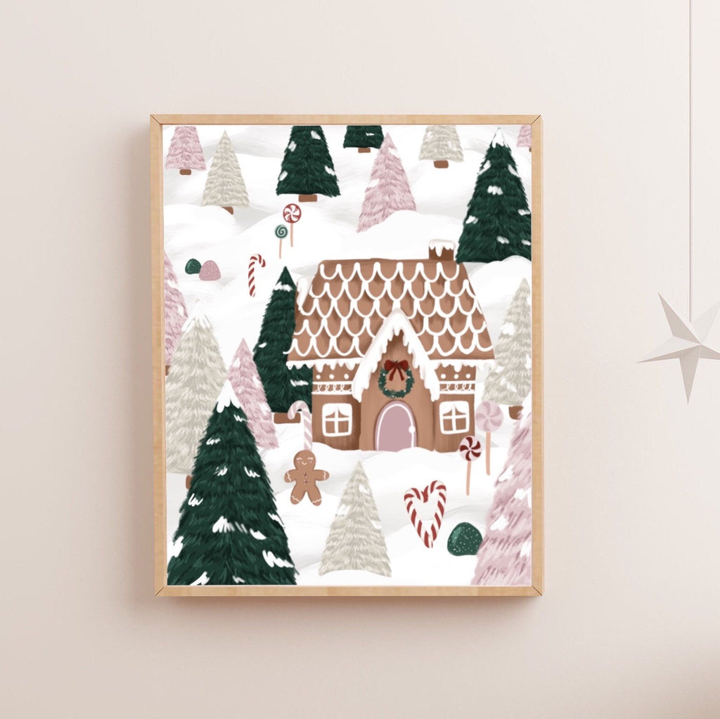 Gingerbread Forest Art Print