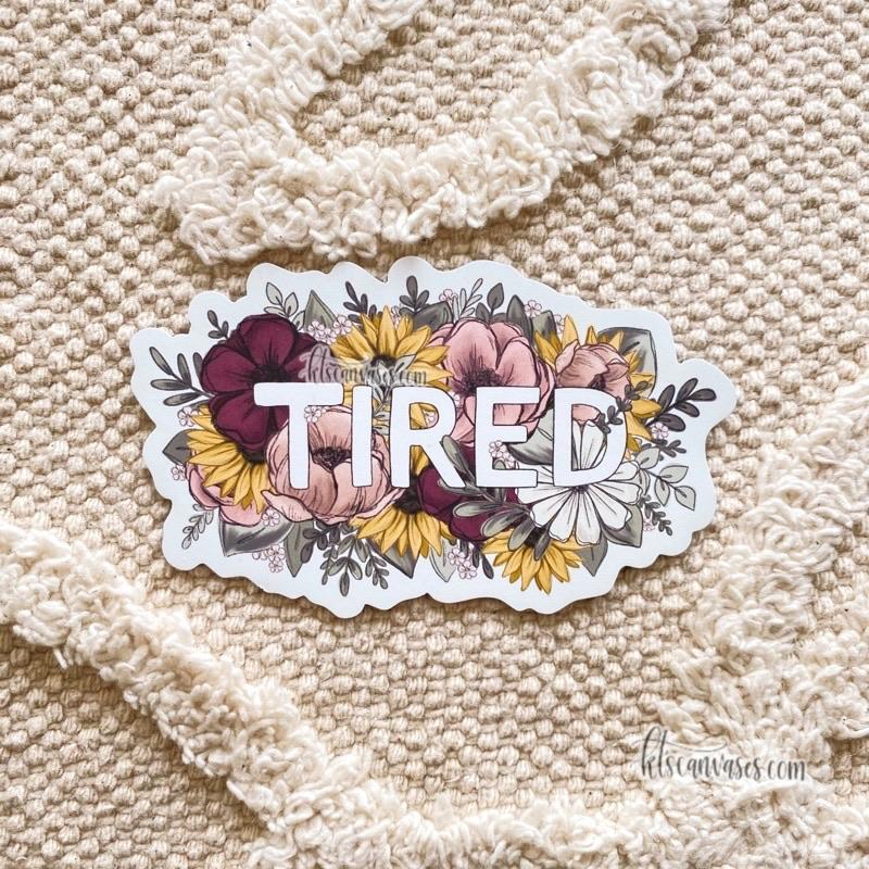 Floral Tired Magnet