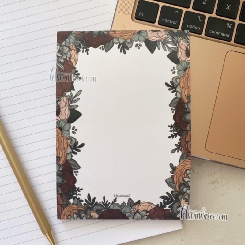 Moody Floral Post-It Notes