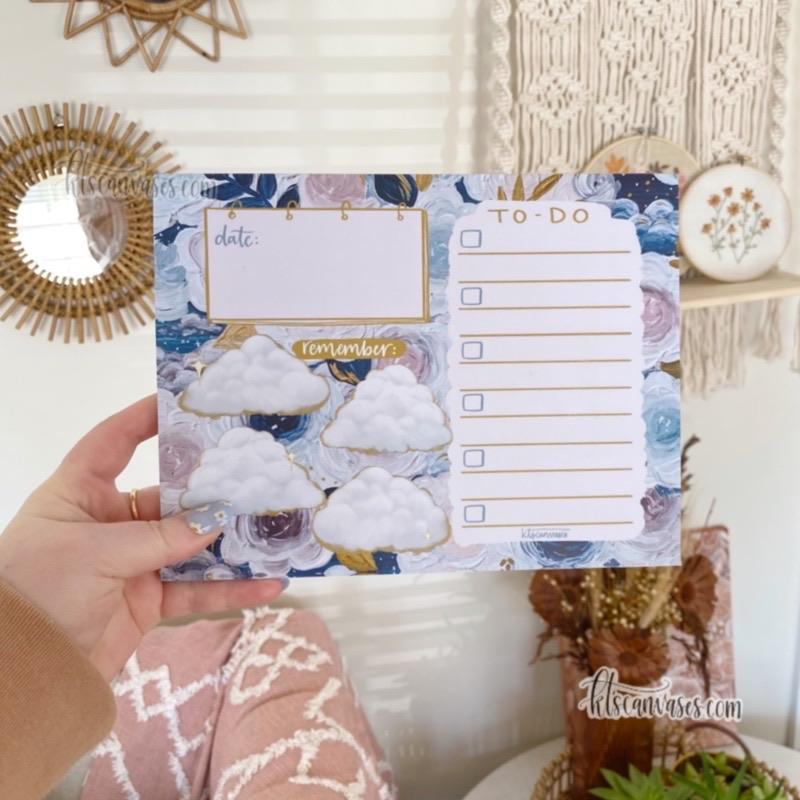 Dreamy Floral Organized Notepad 50 sheets (7 x 9 in.)