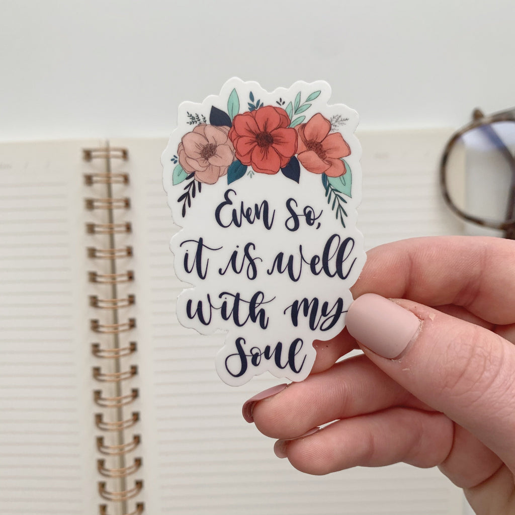 It is Well Floral Sticker