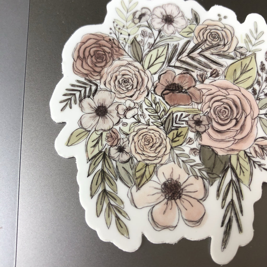 Sketched Floral Sticker