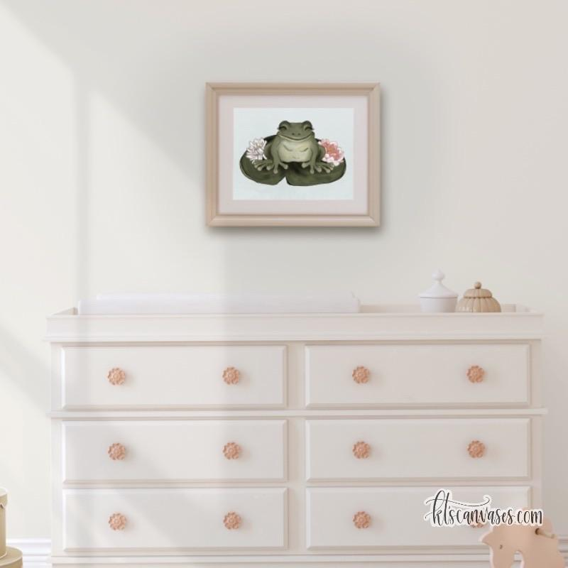 Little Frog Art Print