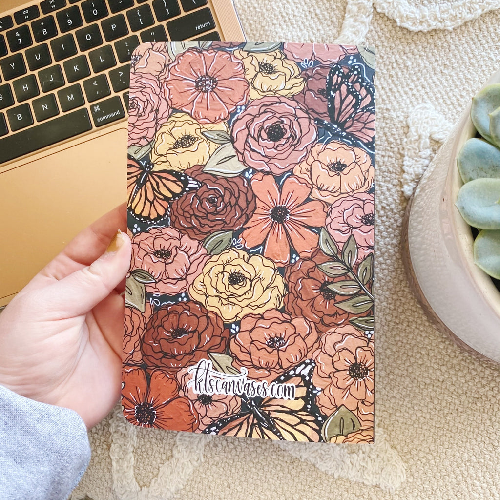 Butterfly Florals LINED Notebook