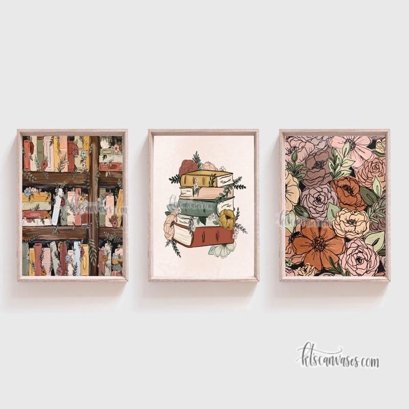 Book Garden Art Print Set of 3