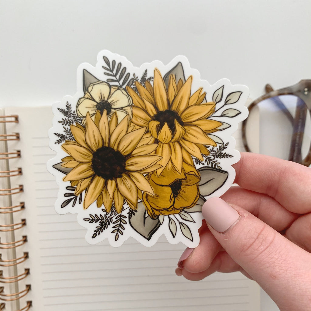 Sunflower Florals Sticker