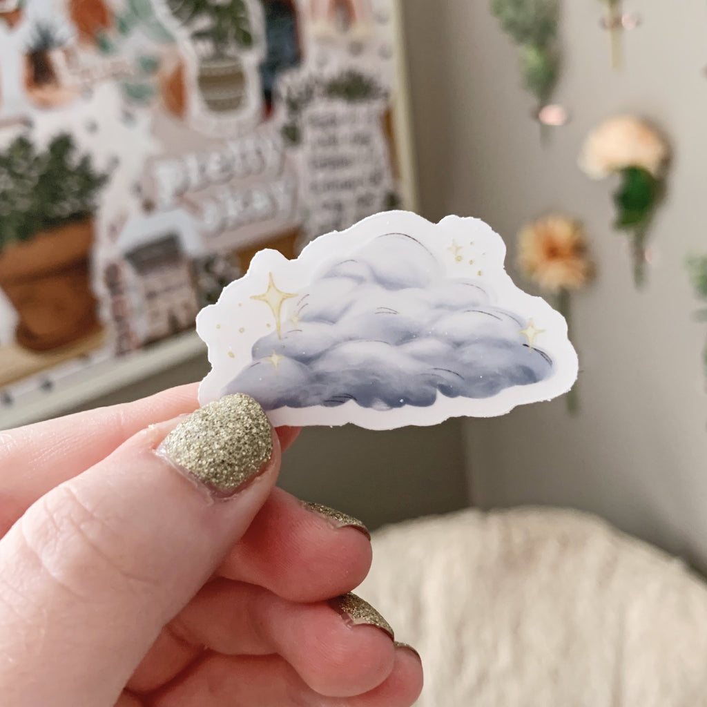 Mini Cloud Clear Sticker