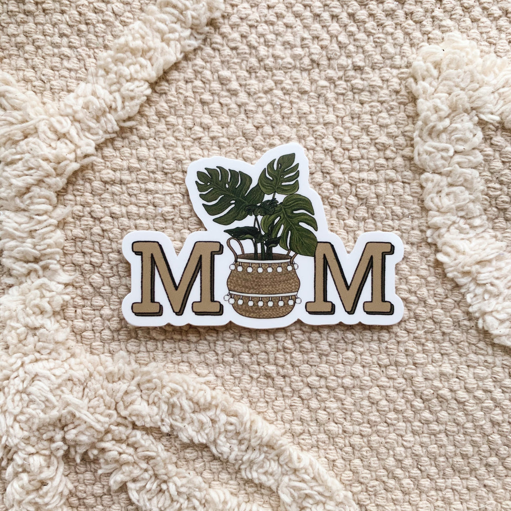 Plant Mom Sticker (Monstera)