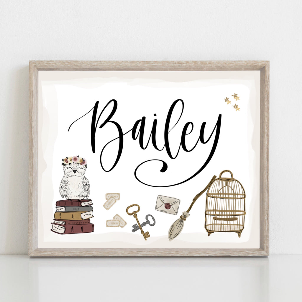 Magical Personalized Name Art Print