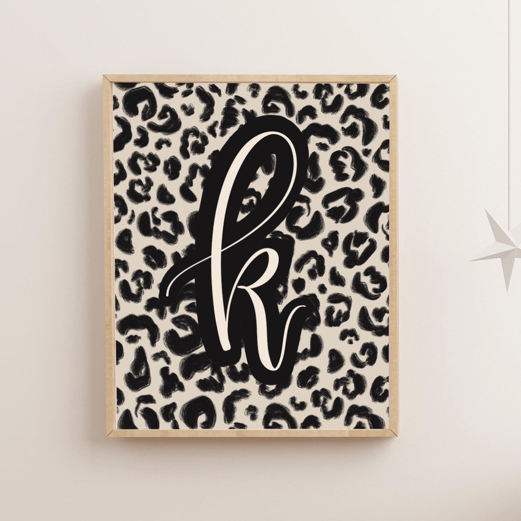 Cheetah Initial Art Print