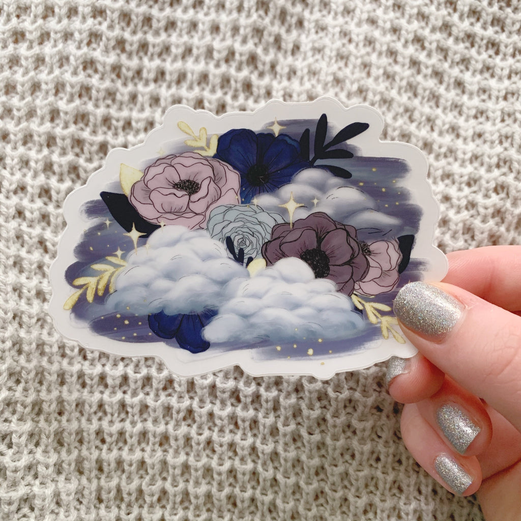Dreamy Florals Clear Sticker