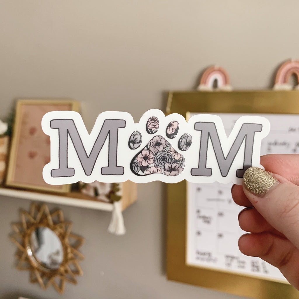 Dog/Cat Mom CLEAR Sticker
