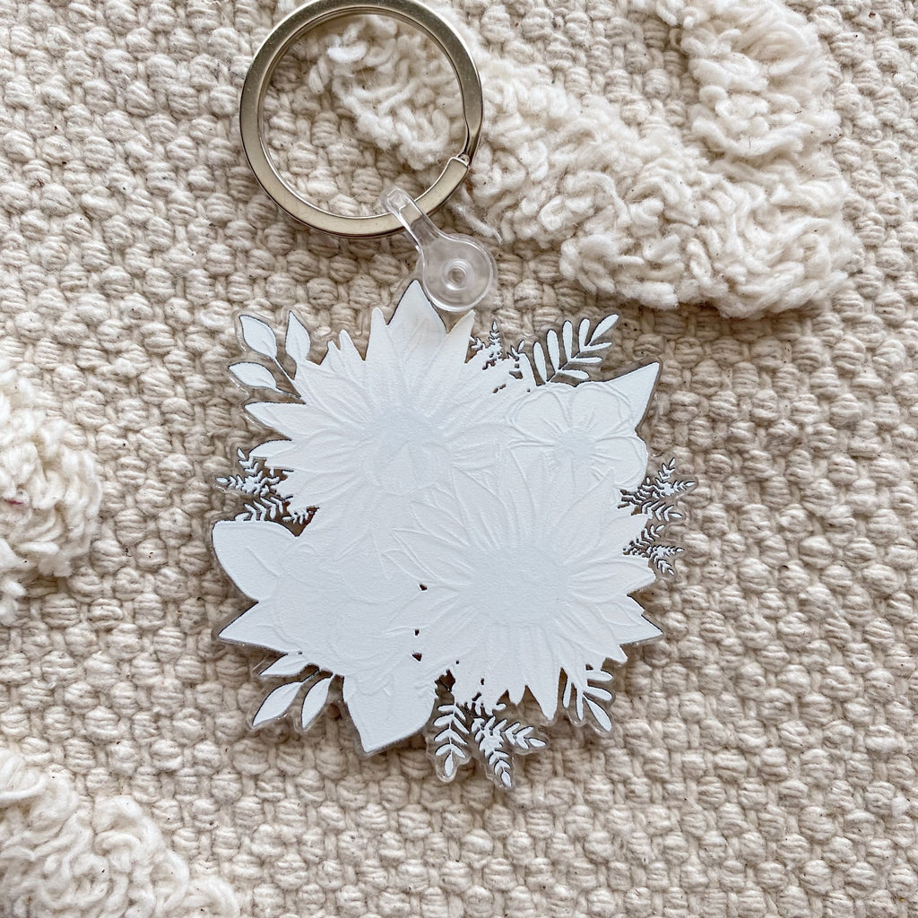 Sunflower Keychain 2.5 in.