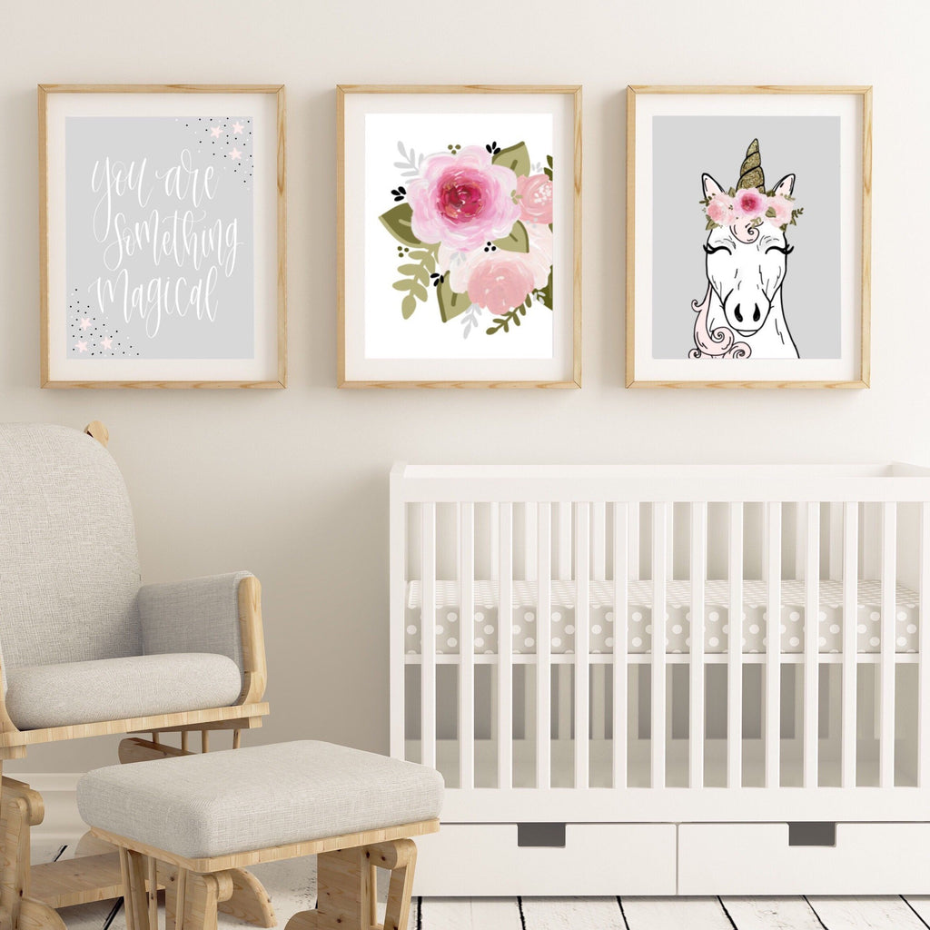 Unicorn Art Print Set of 3