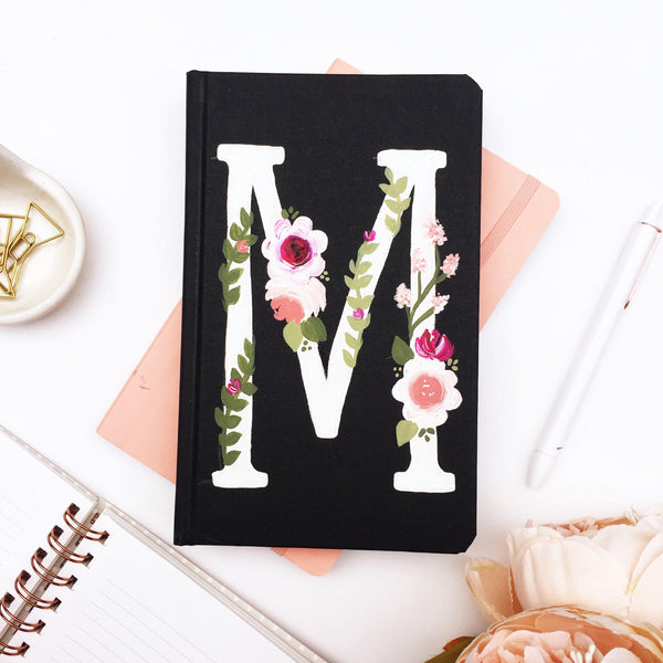 Notebook - Personalized Floral Monogram Journal