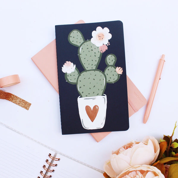 Notebook - Rose Gold Cactus Notebook