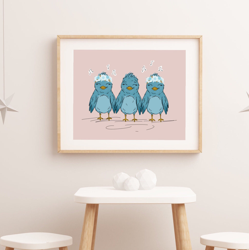 Print - 3 Little Birdies Art Print
