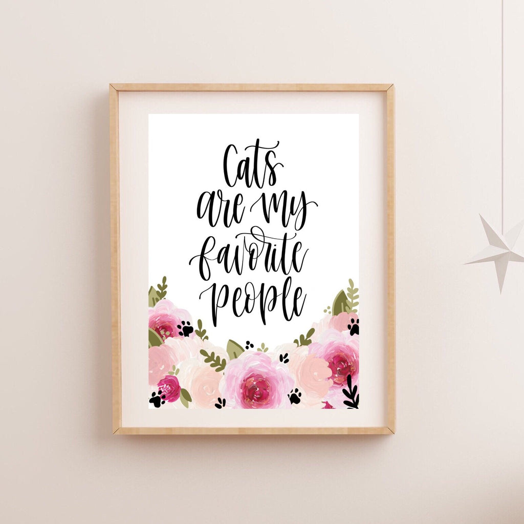 Print - Animals Are My Favorite People Art Print