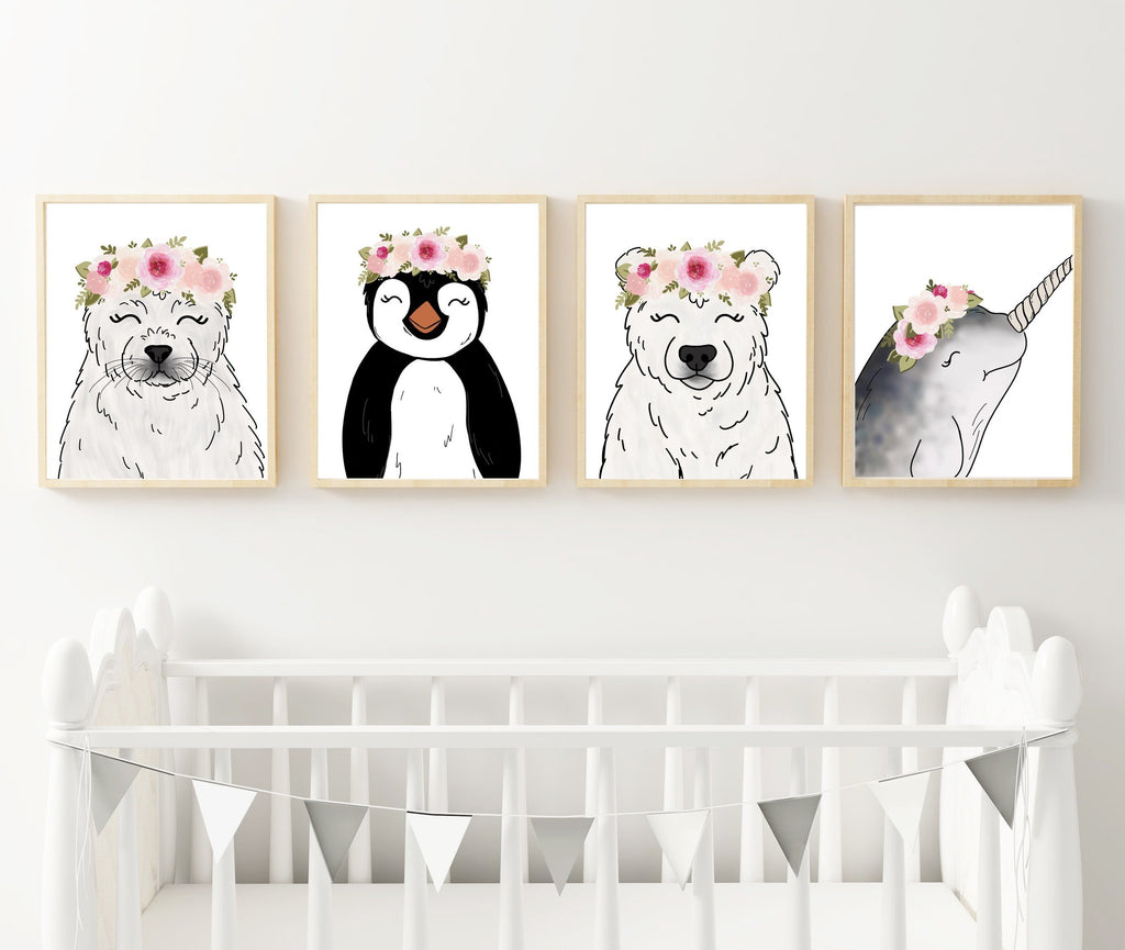Print - Arctic Animal Set Of 4 Art Prints