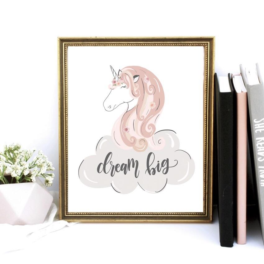 Print - Dream Big Unicorn Art Print