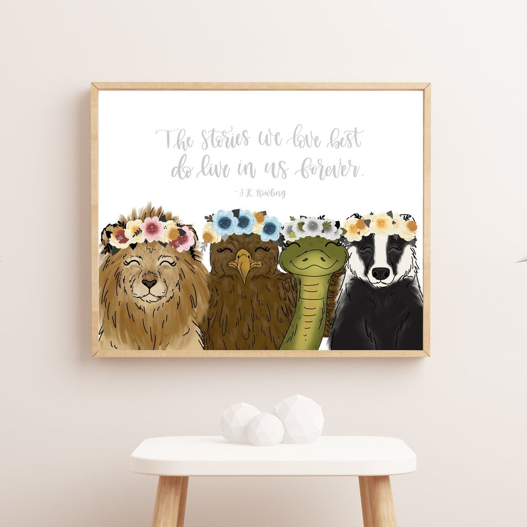 Print - House Animals Art Print