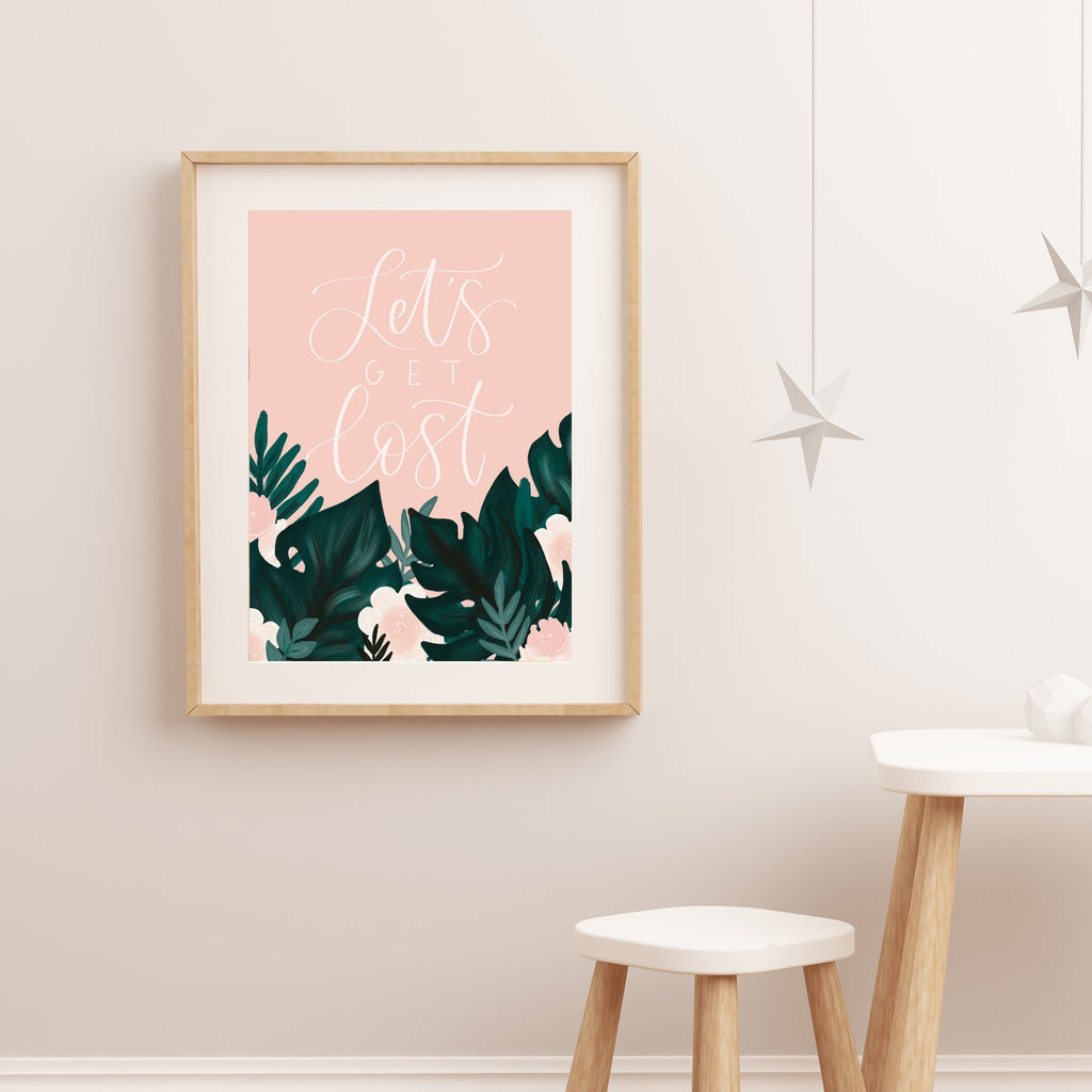 Print - Let's Get Lost Tropical Art Print