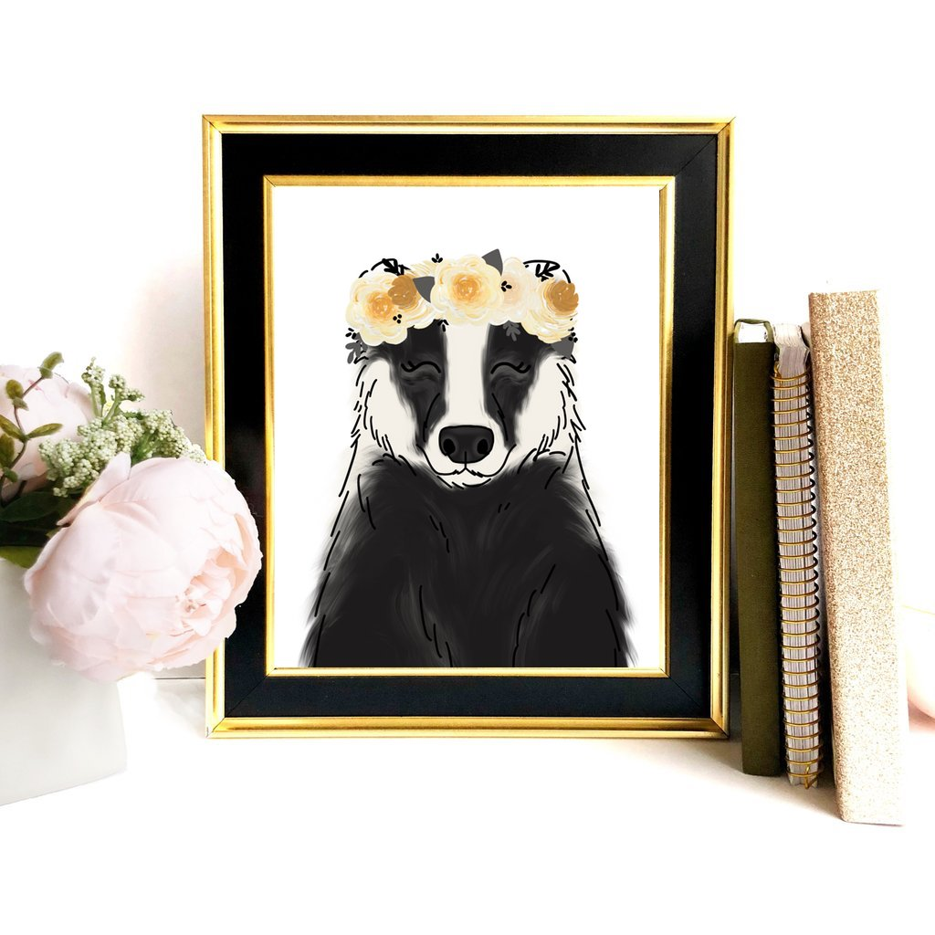 Print - Magical Badger Art Print