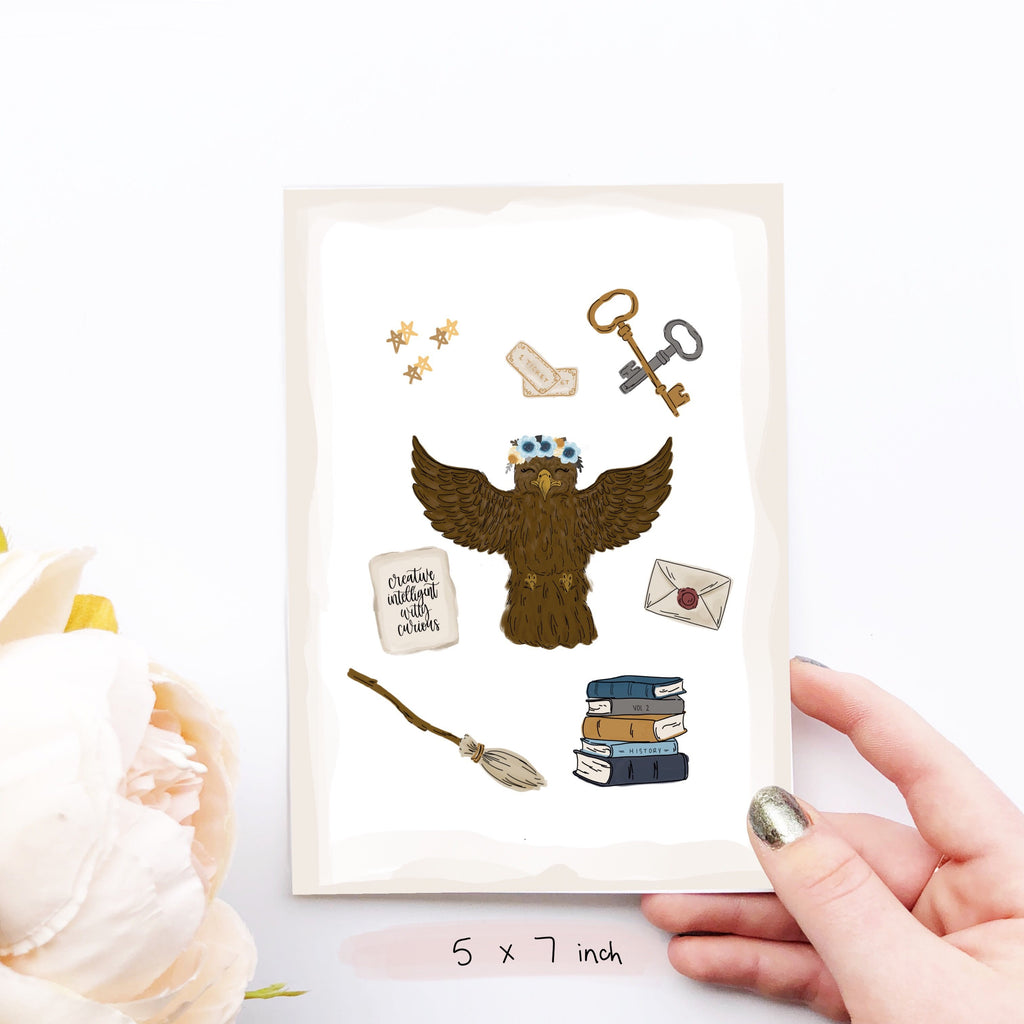 Print - Magical Eagle Collage Art Print