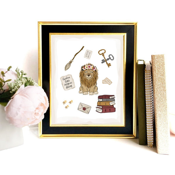 Print - Magical Lion Collage Art Print