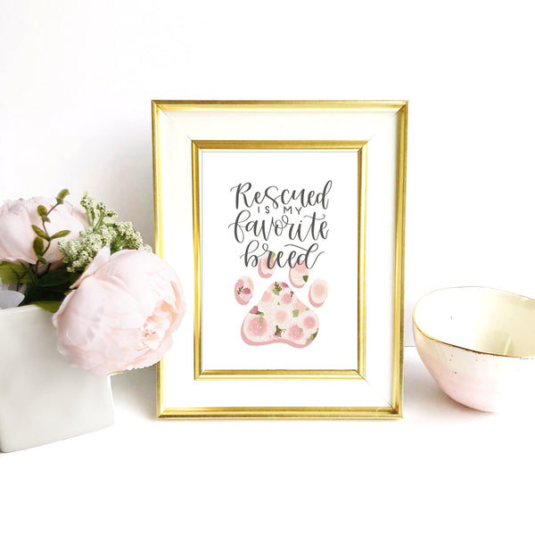 Print - Rescued Pet Art Print