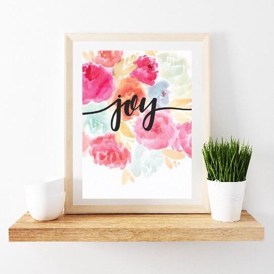 Print - Watercolor Joy Art Print / SALE